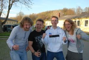 Bei den verschiedenen Wettkämpfen kämpften die Studierenden hart, um die Fachschaft I&E zu schlagen. Foto: Sophie Peschke