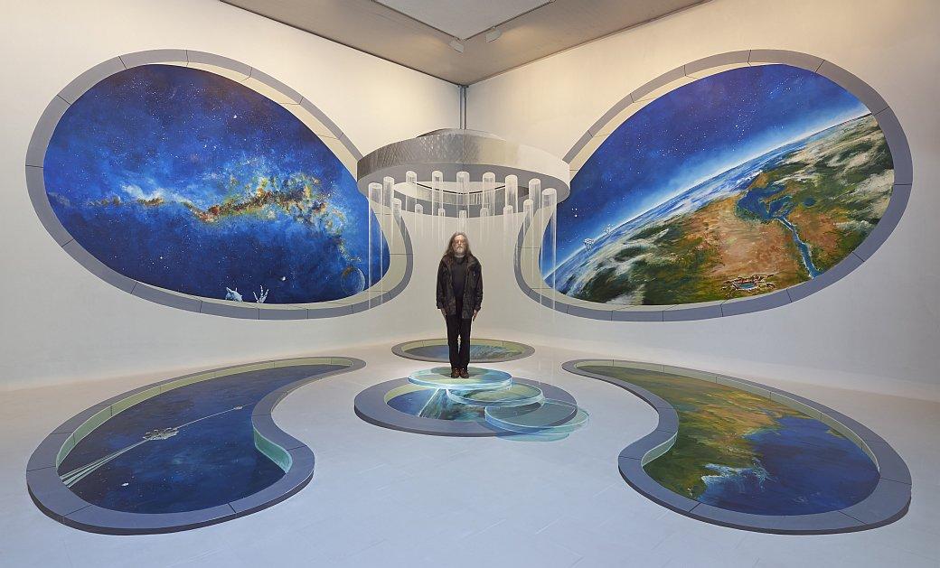 "Gregor Wosik ""Beamer in die Zukunft"", 2015, © Gregor Wosik, Foto: Helmut Kunde"