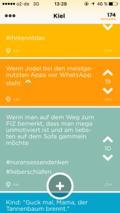 Jodel ist eine sehr beliebte App bei Studenten, neben Facebook und WhatsApp.