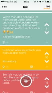 Kiel hat viele Jodler, die die App rege nutzen.