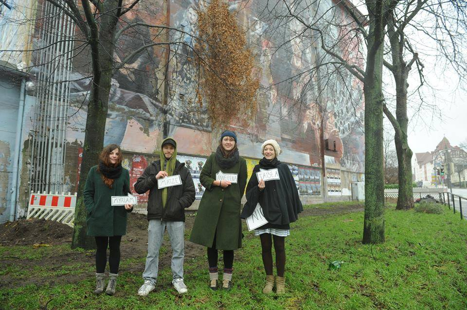 "Das Team um ""Grünkultur"": Tabea Everling, Mathias Semling, Anne-Lena Cordts und Myriam Lemberger."