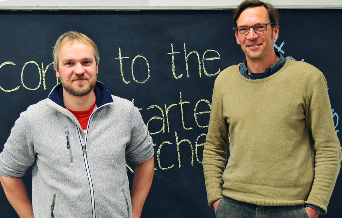 Harm Brandt (links) und Jens Langholz (rechts) stehen bereit für neue Gründer. (Foto: Lisa Strobel)