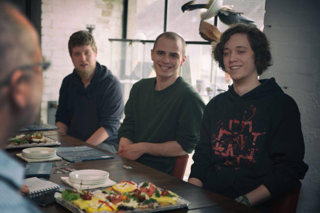 Die kreativen Köpfe: Simon Raskop, Fabian Schrader und Silas Fuchs (Foto: Sascha Witt)
