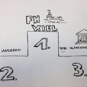 Die FH Kiel macht das Rennen. (Foto: Melanie Kunz)