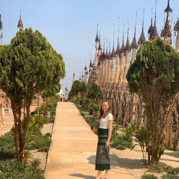 Kristin Peters in Myanmar.
