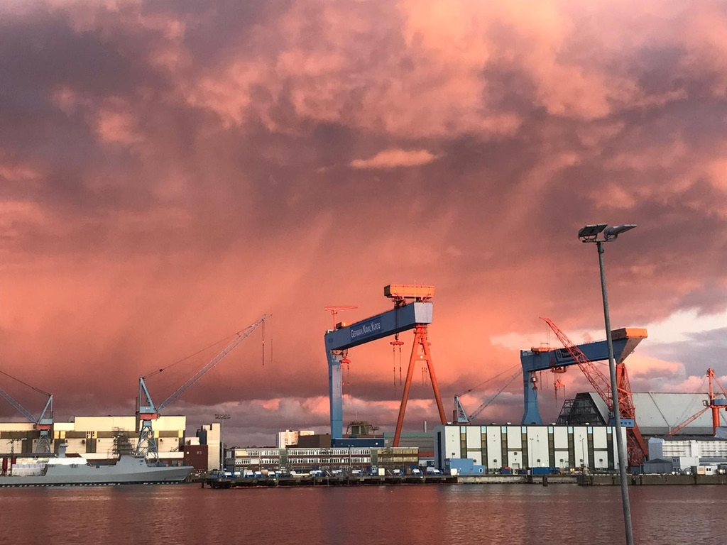 Sunset in Kiel